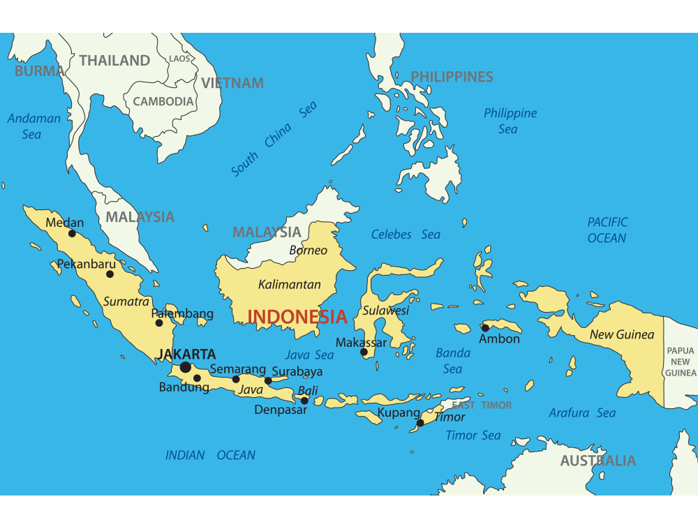 Indonesia mapa