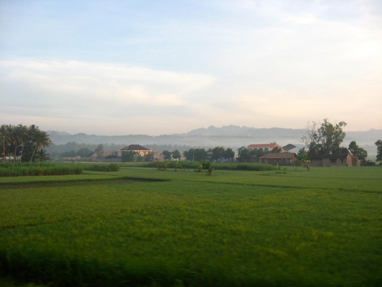 Paisagem do interior rural da ilha de Java