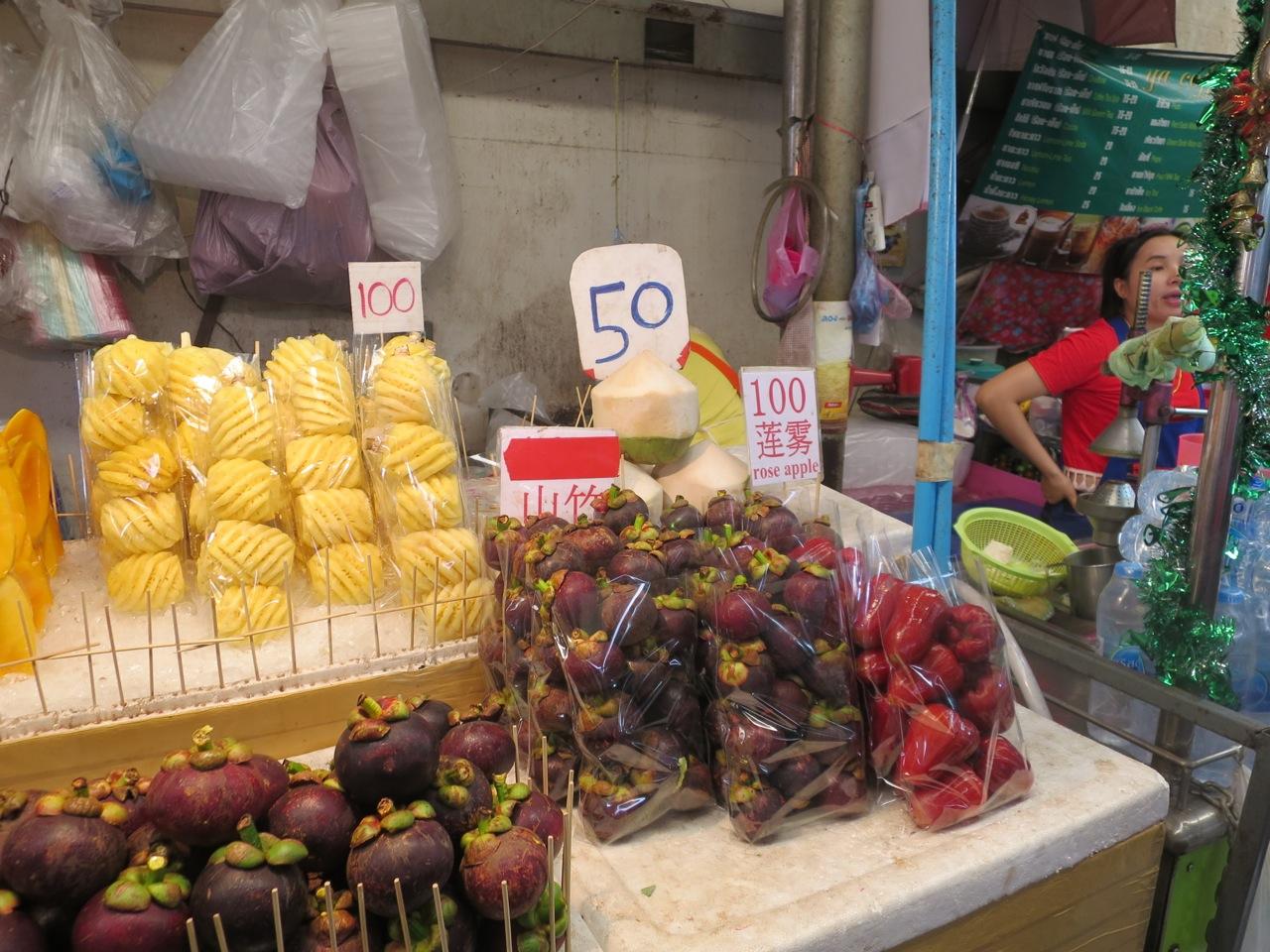 Frutas na rua