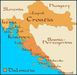 Mapa Dalmácia 02