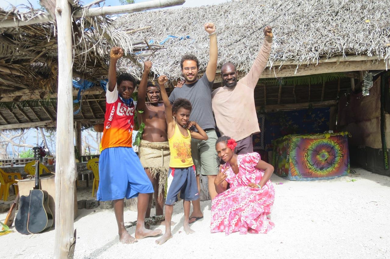 Na areia em Vanuatu