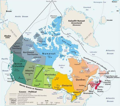 CanadaMapsProvincesColourCoded