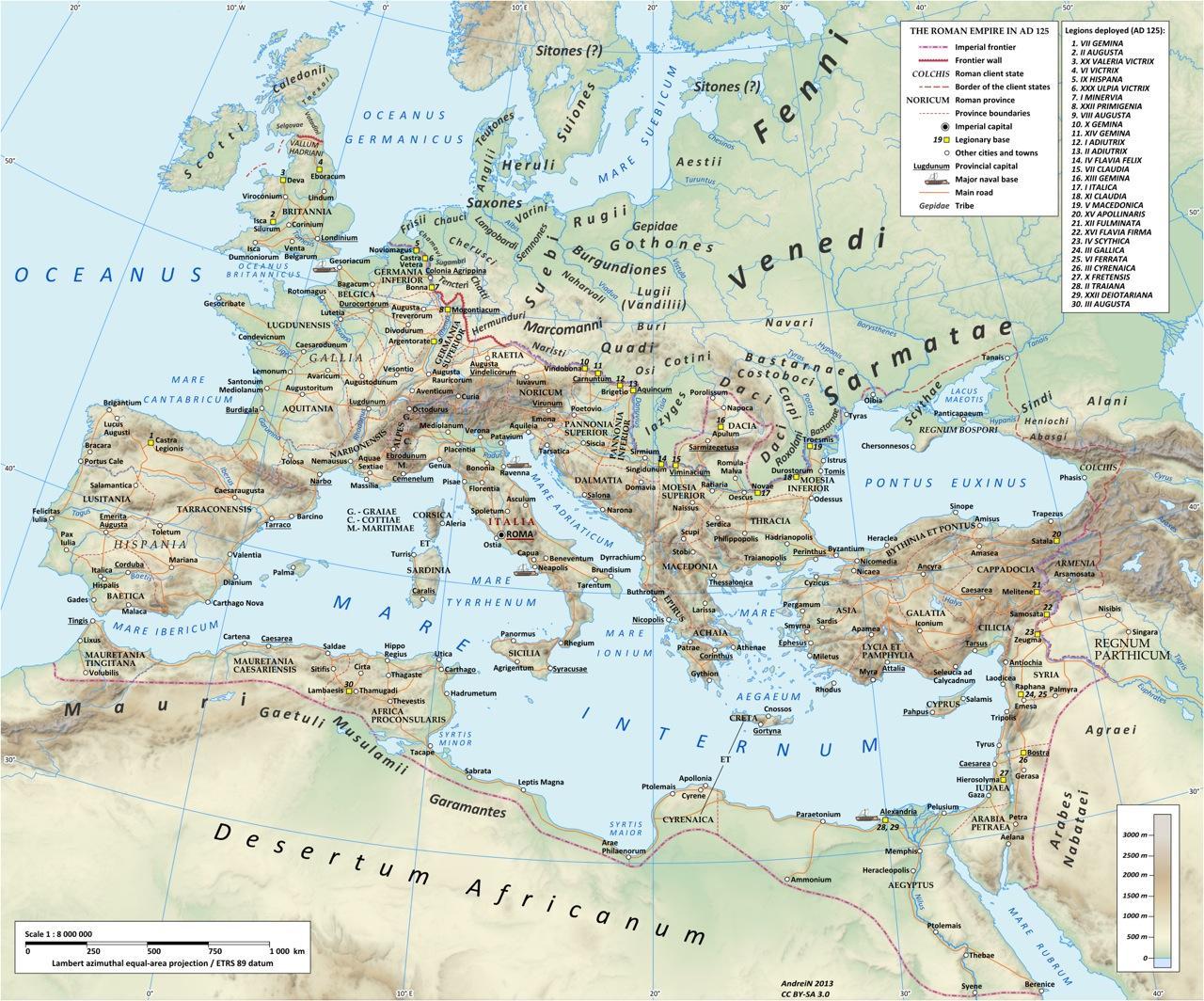 Petra 1-mapa romano
