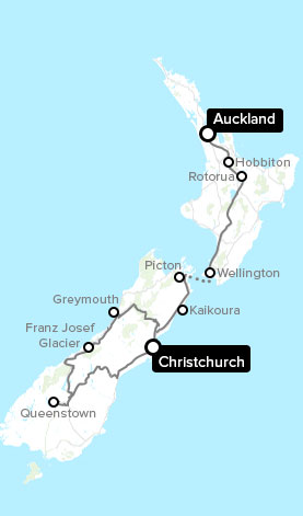 auckland to well