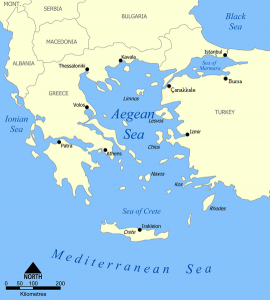 Aegean Sea map