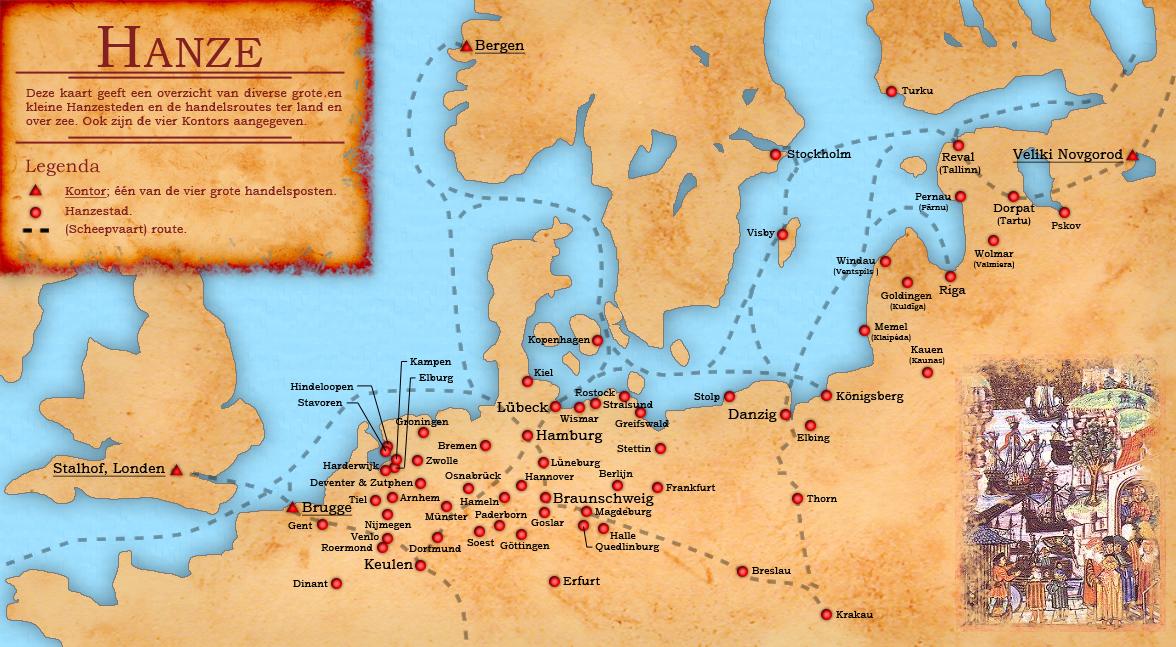 Liga Hanseatica mapa