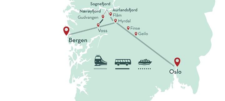 Mapa Norway in a Nutshell