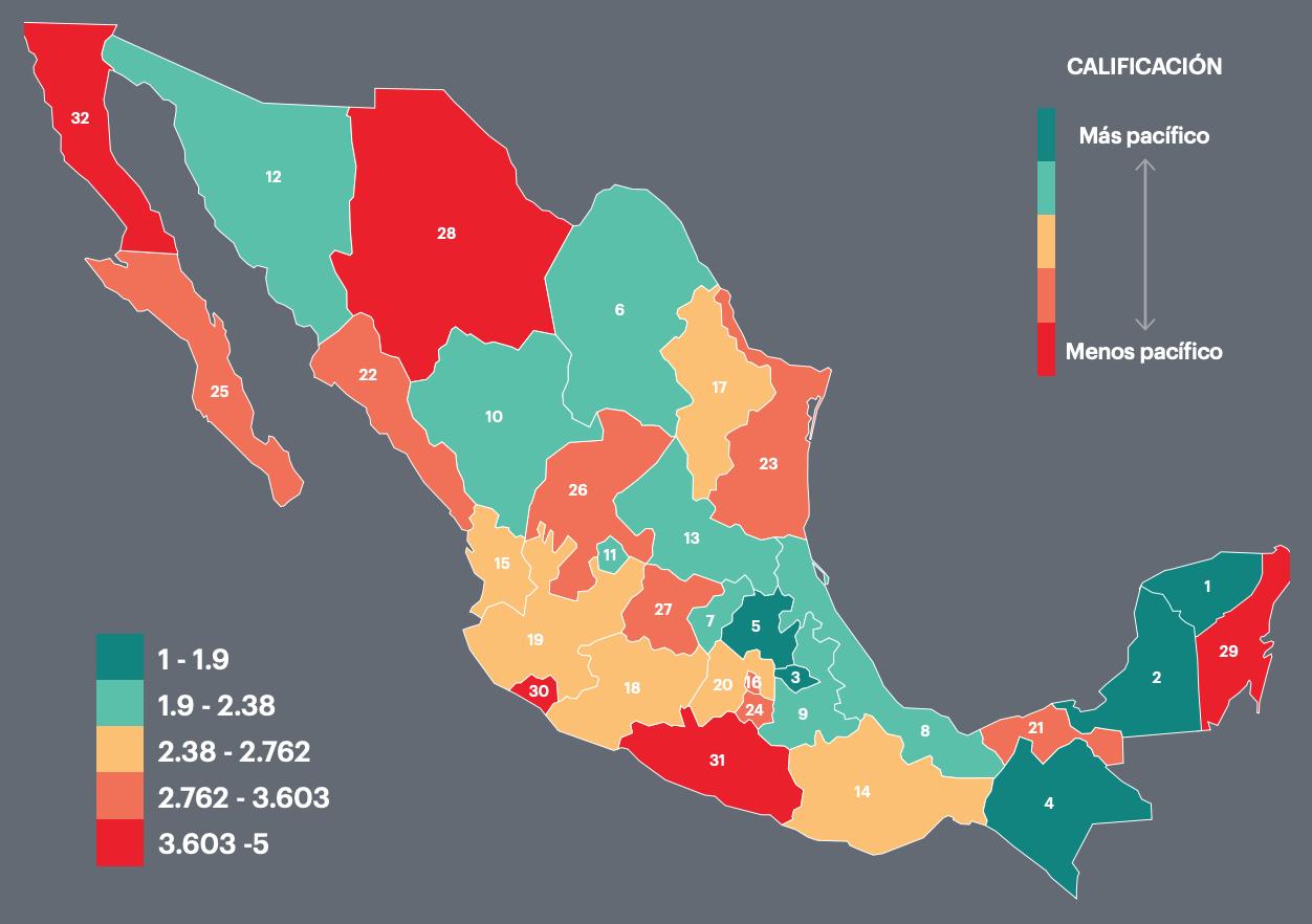 Indice de Paz Mexico 2019