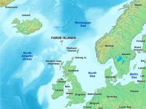 Ilhas Faroe mapa