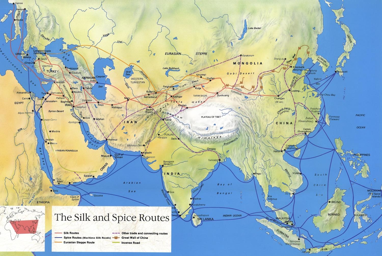 Mapa Rotas da Seda
