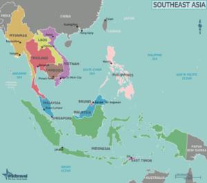 Sudeste Asiatico mapa