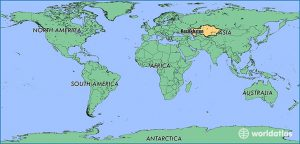 kazakhstan locator map