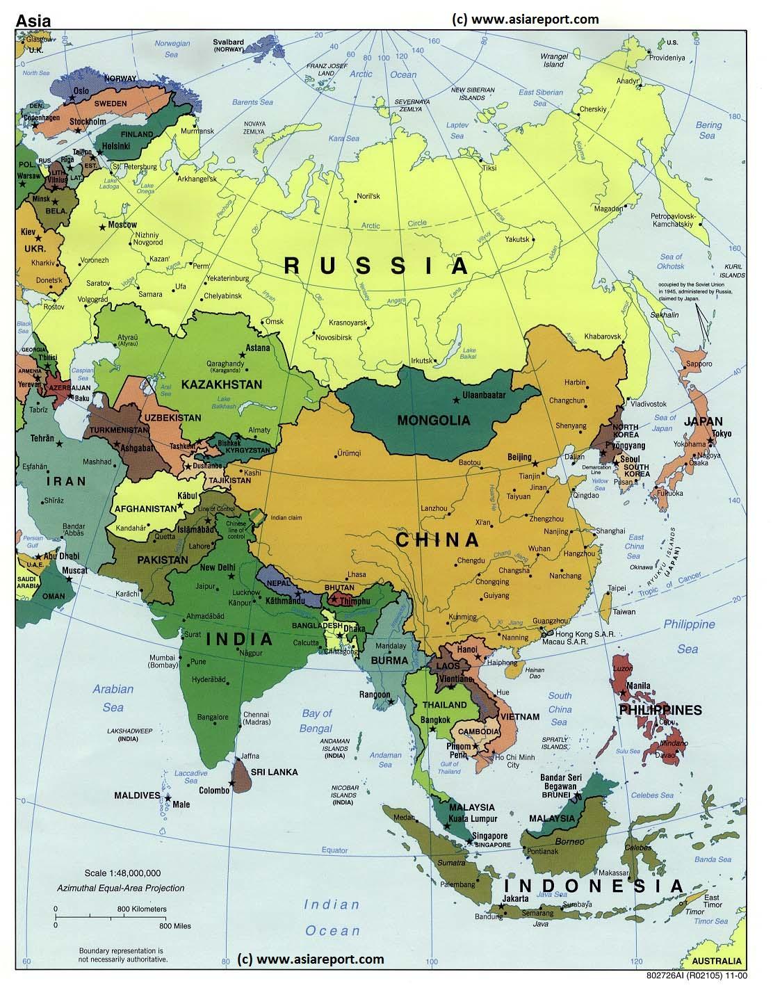Mapa da Asia