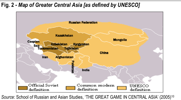 UNESCO map of Central Asia