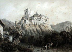 Karlštejn kolem r. 1850 Franz Kaliwoda August C. Haun