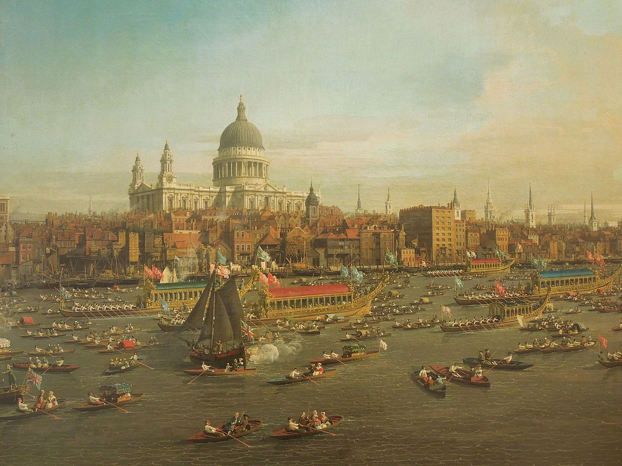 Giovanni Antonio Canal The River Thames detail 1