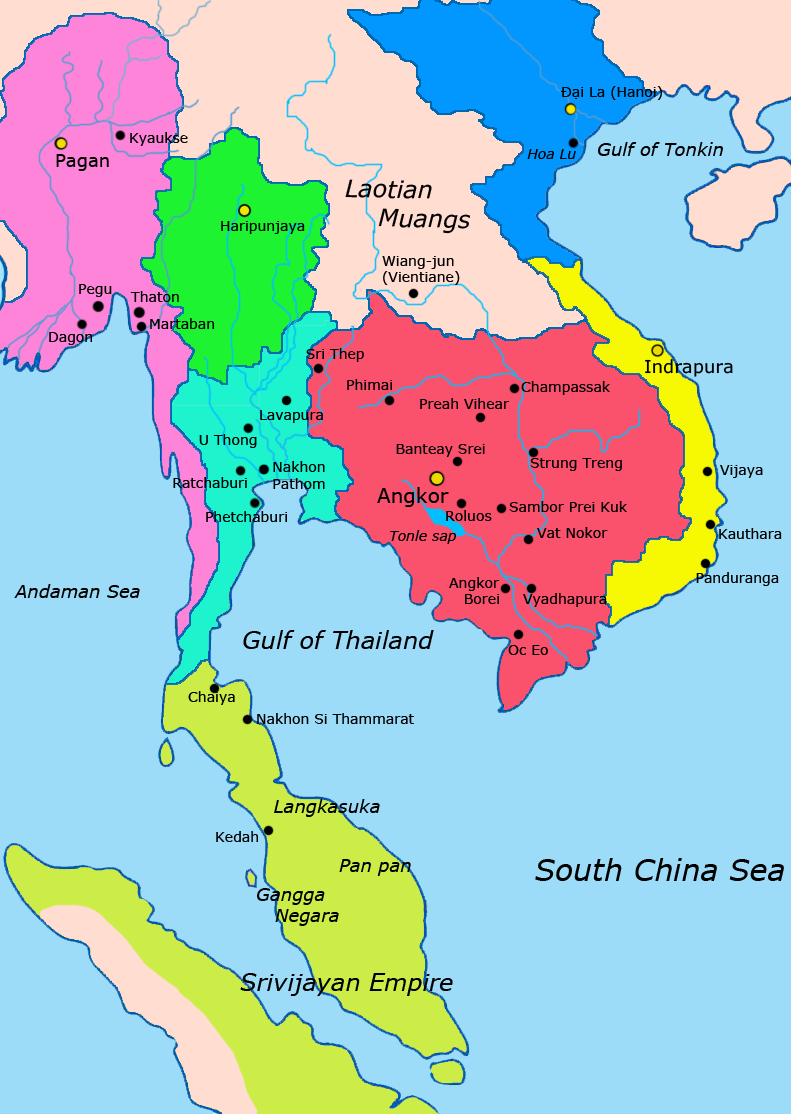 Map of southeast asia 1000 1100 CE