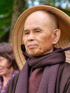 Thich Nhat Hanh leading a walking meditation PHOTO PVCEB