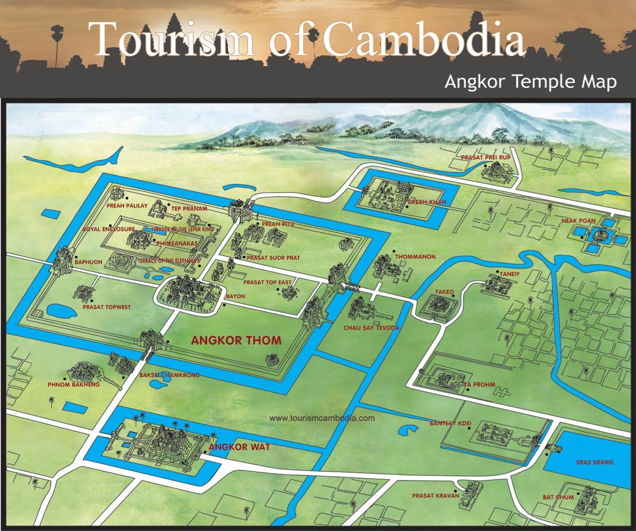 Mapa do Parque Angkor