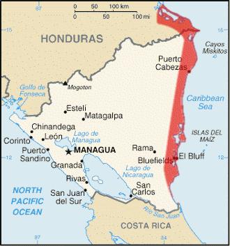 Mapa Miskito