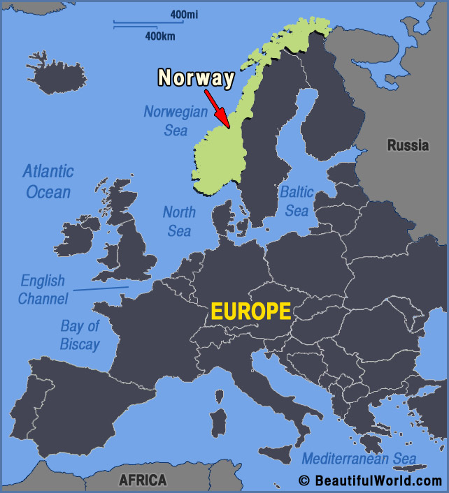 norway europe map