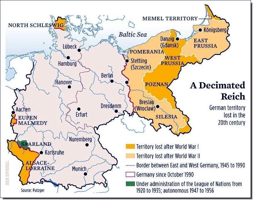 Mudança território Alemanha sec XX
