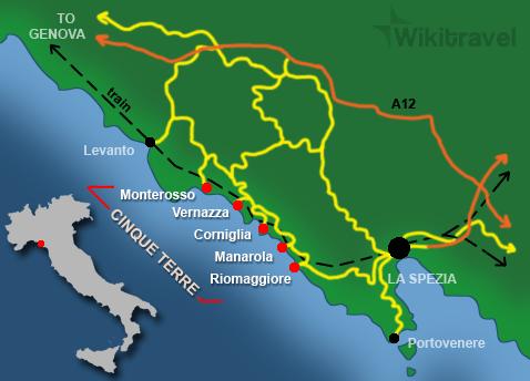 CinqueTerre map