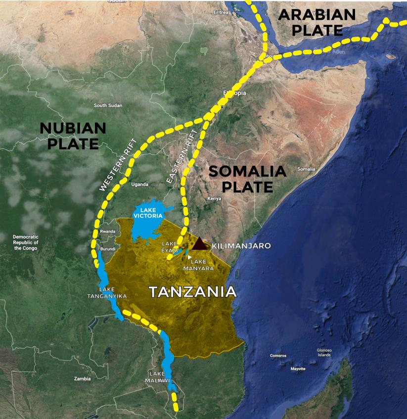 Mapa do Great Rift Valley