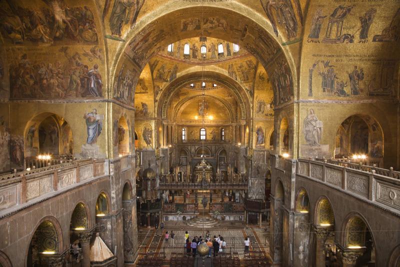 Interior Basílica de São Marcos Veneza