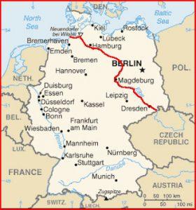 Rio Elba mapa Alemanha