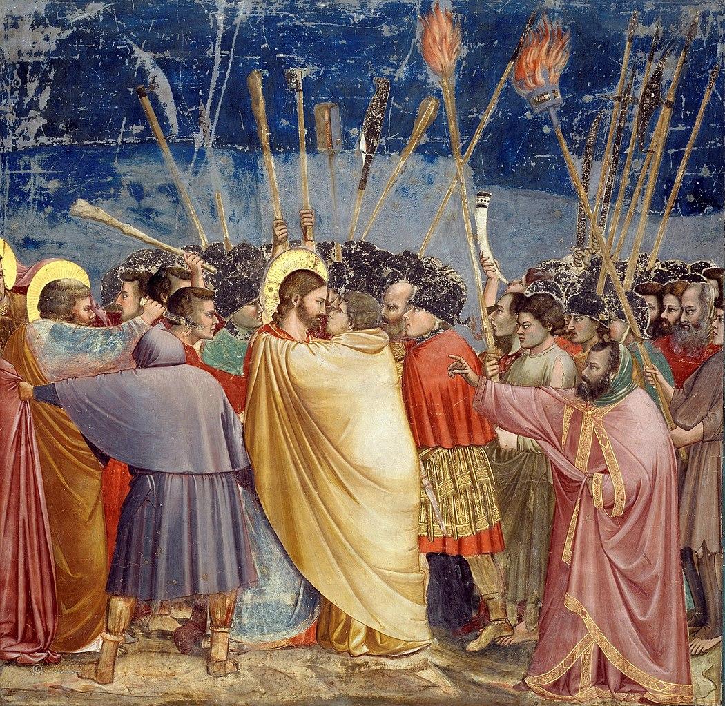 1050px Giotto Scrovegni 31 Kiss of Judas