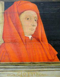375px Giotto Tableau représentant cinq maîtres de la Renaissance florentine début XVIe siècle 1