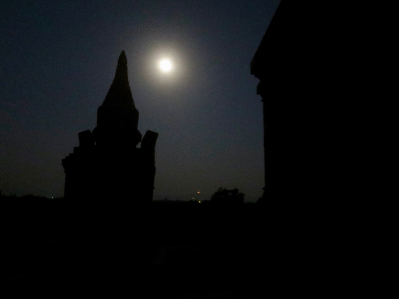 Luar em Bagan