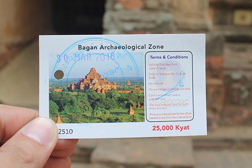 Bagan ingresso entrada