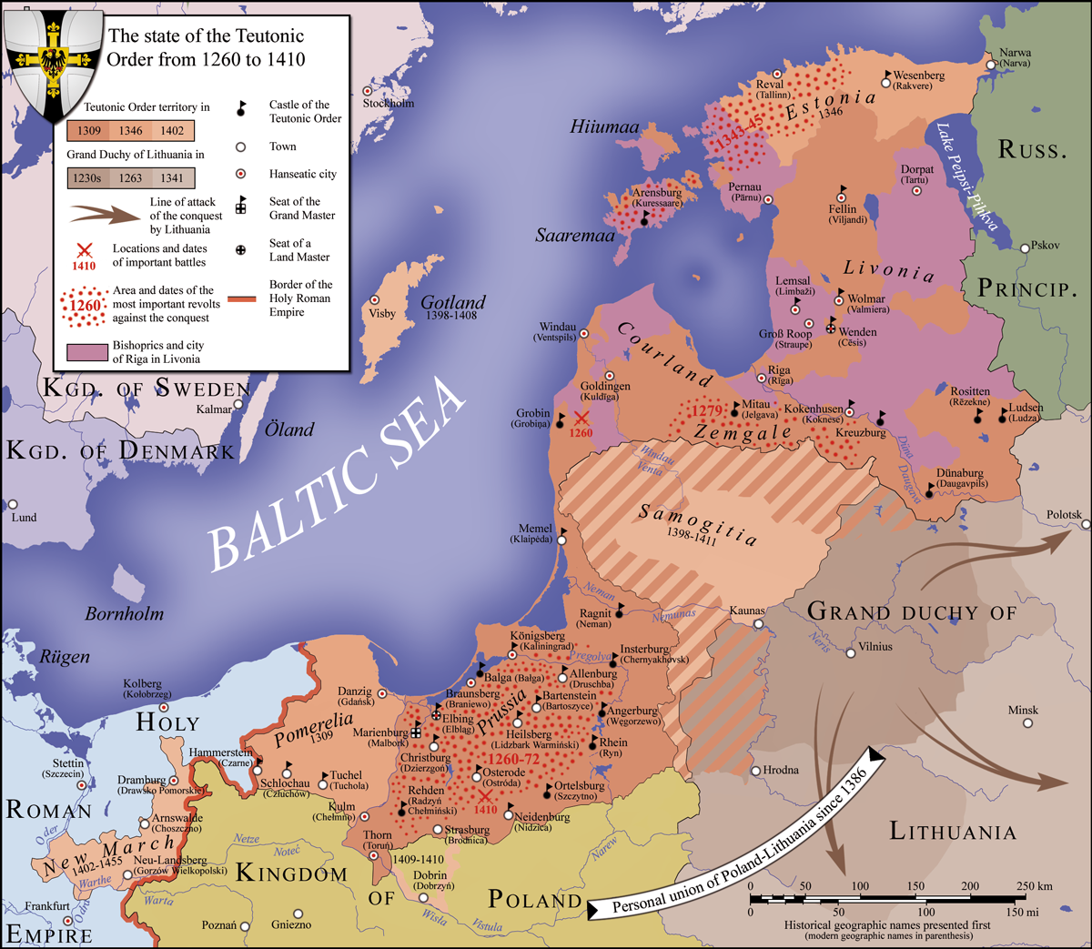 Cavaleiros Teutônicos em 1410