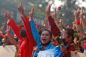 Protestos em Myanmar 2021