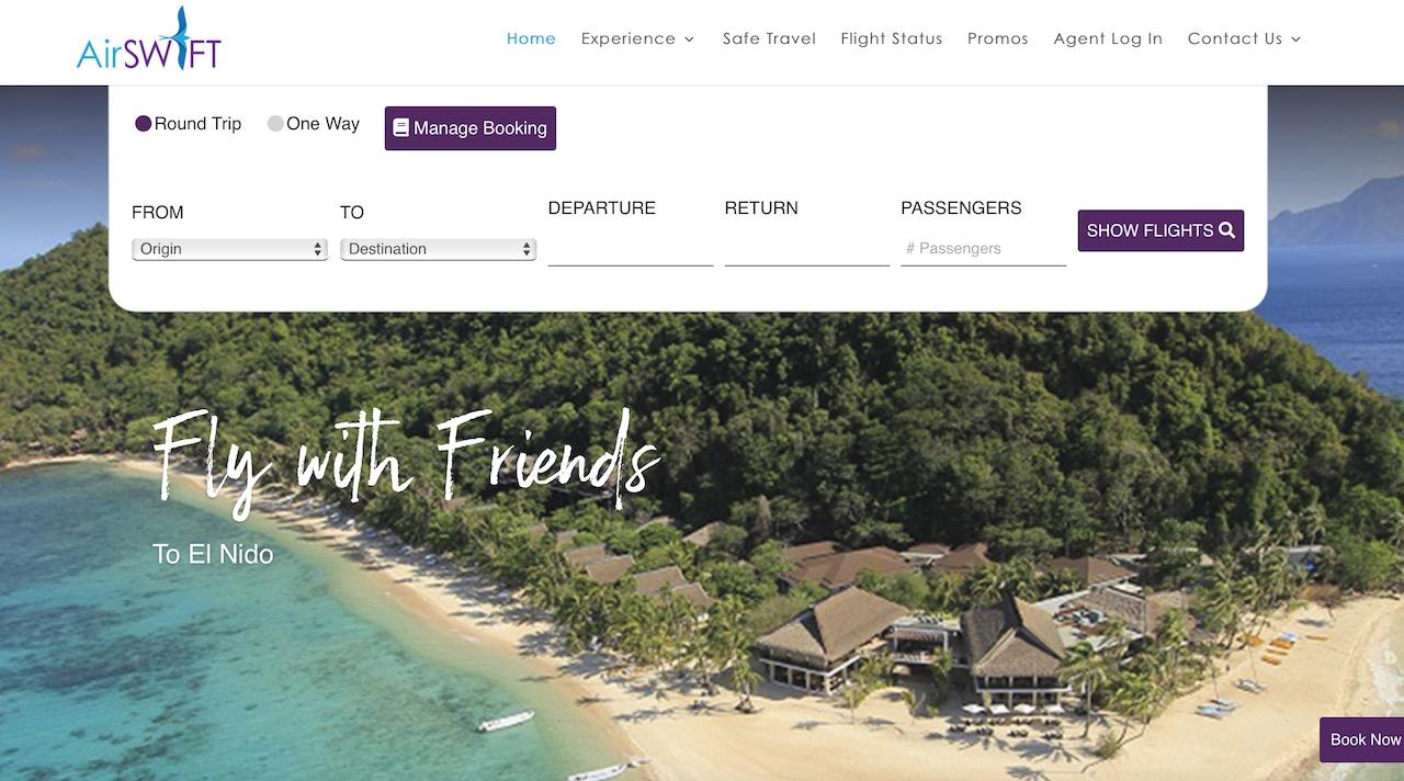 Site da AirSWIFT