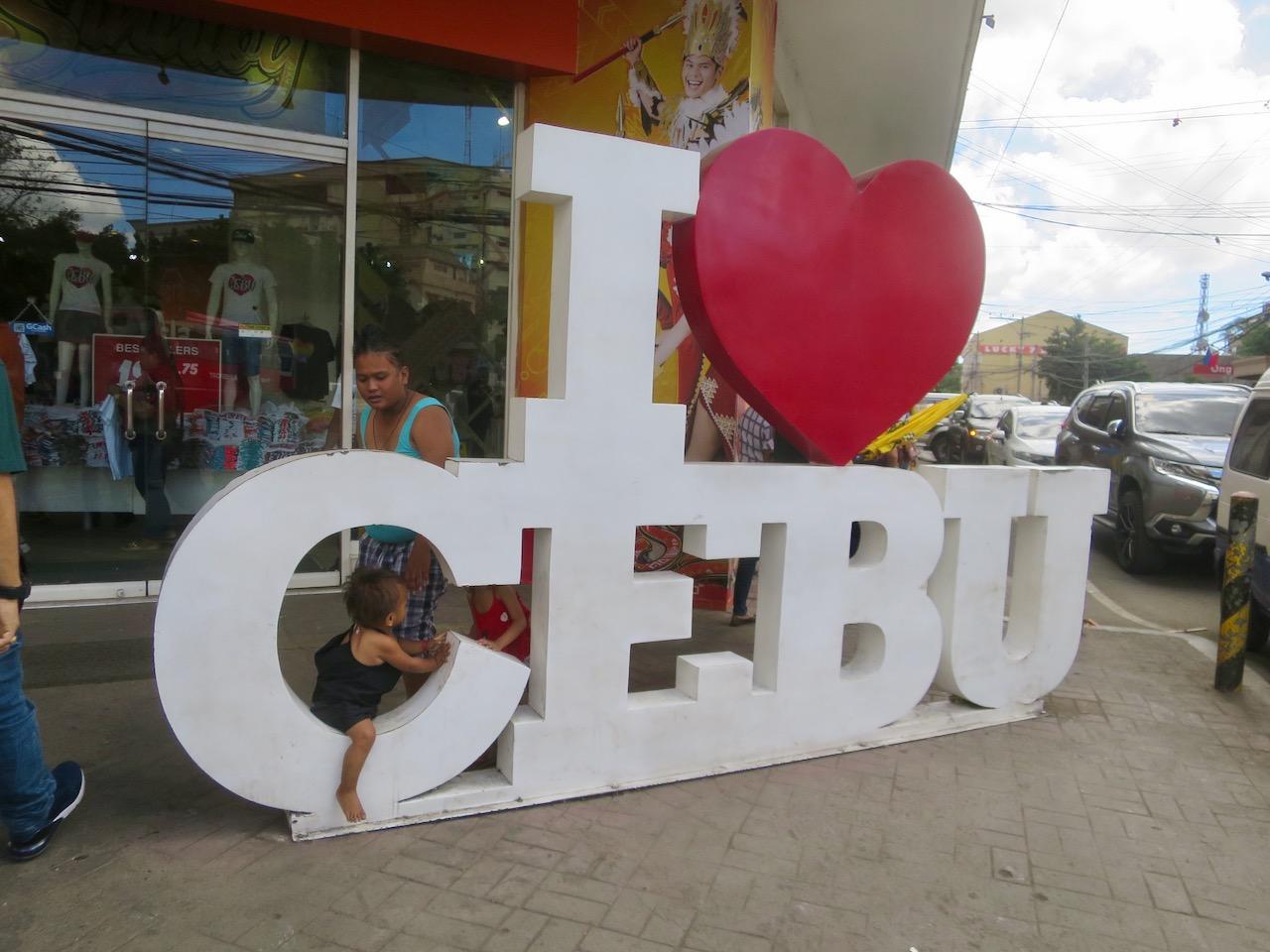 Sinal de Eu Amo Cebu