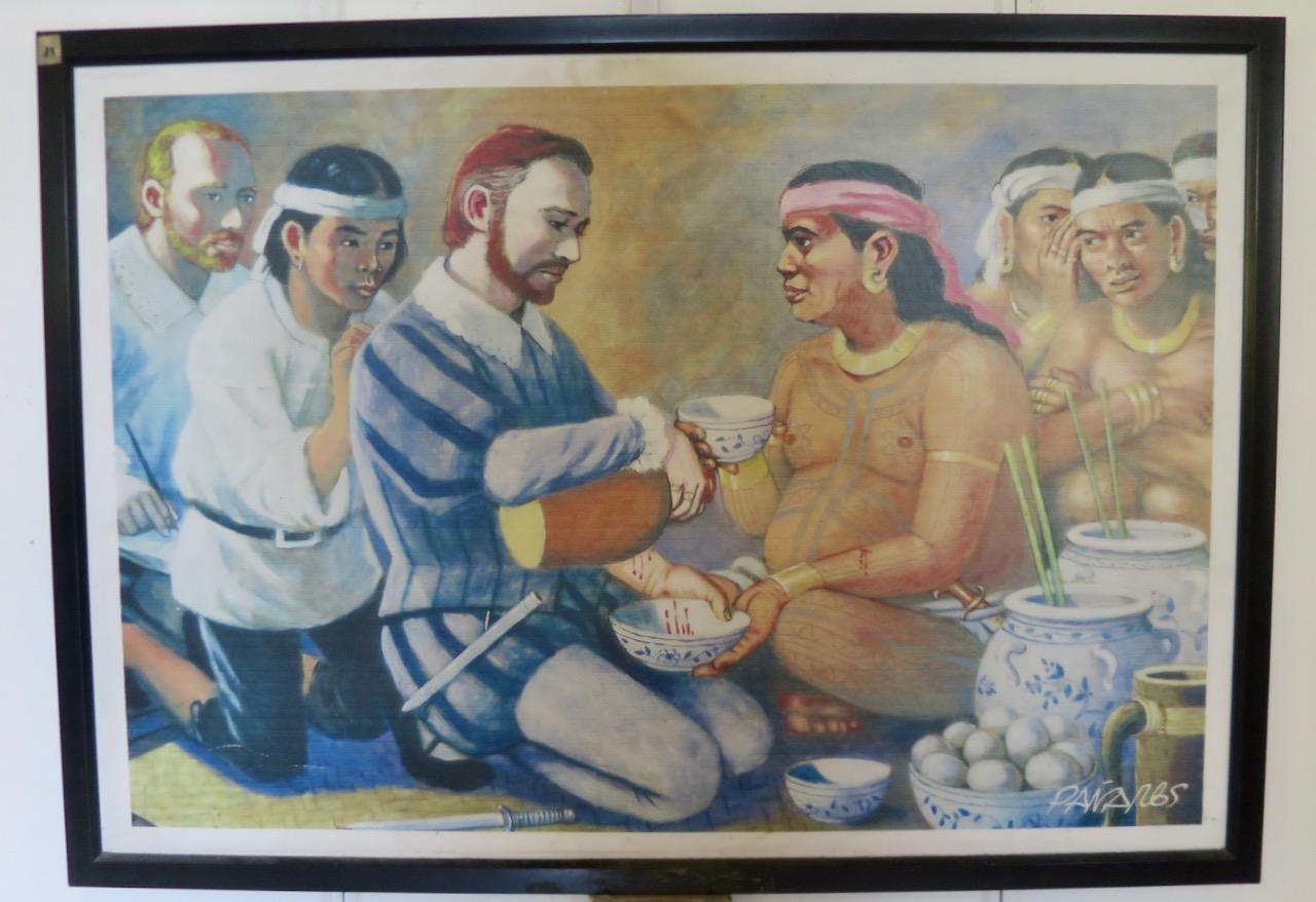 Primeiro encontro de Magalhães com chefe local em Cebu