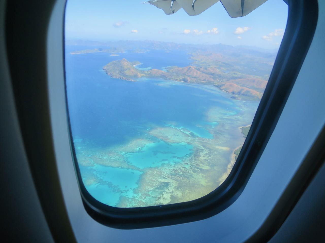 Paisagem das Filipinas vista da minha janela do avião