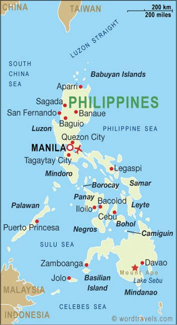 Mapa Visayas nas Filipinas