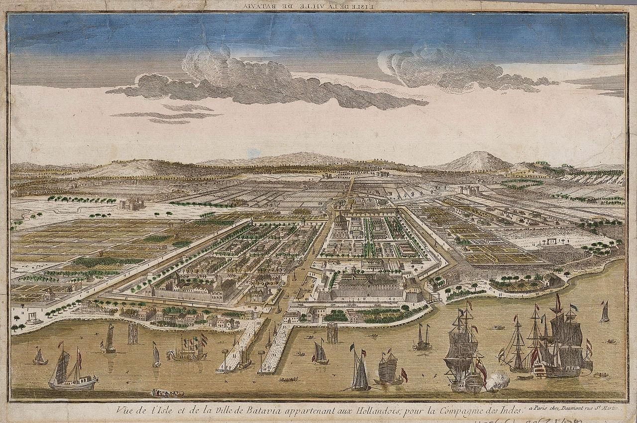 Vista de Jakarta em 1780