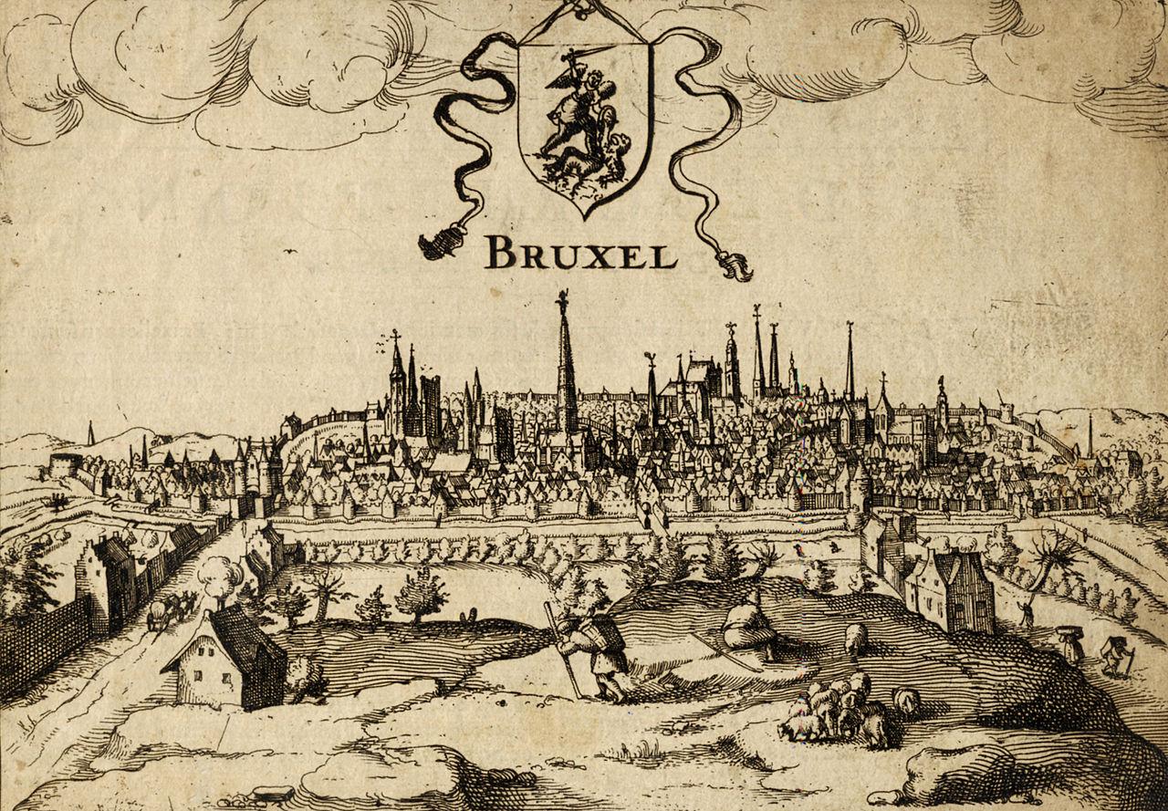Gravura de Bruxelas em 1610