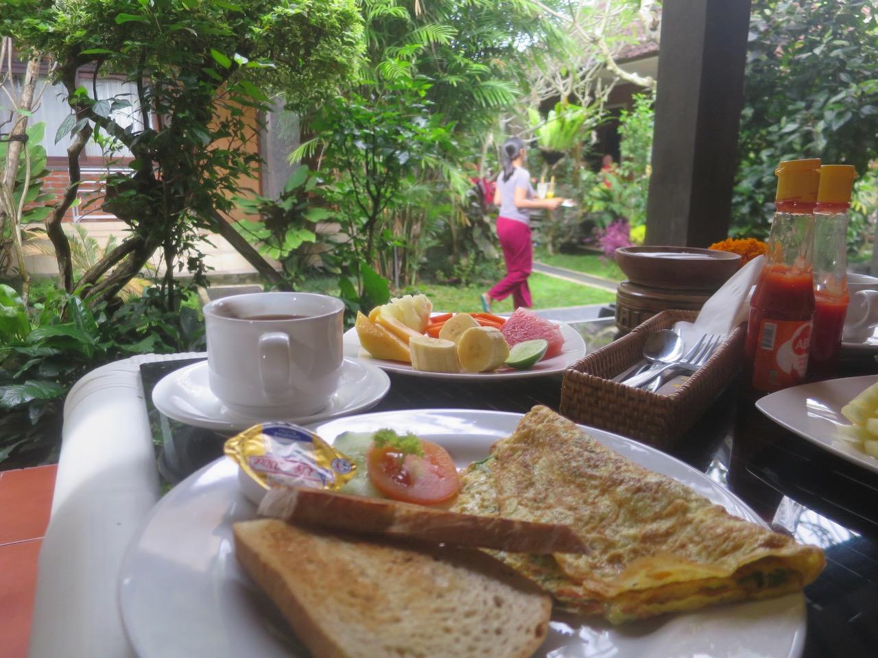 Mesa de café da manhã em Ubud