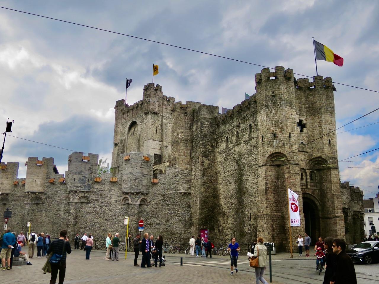 Castelo Gravensteen em Gante