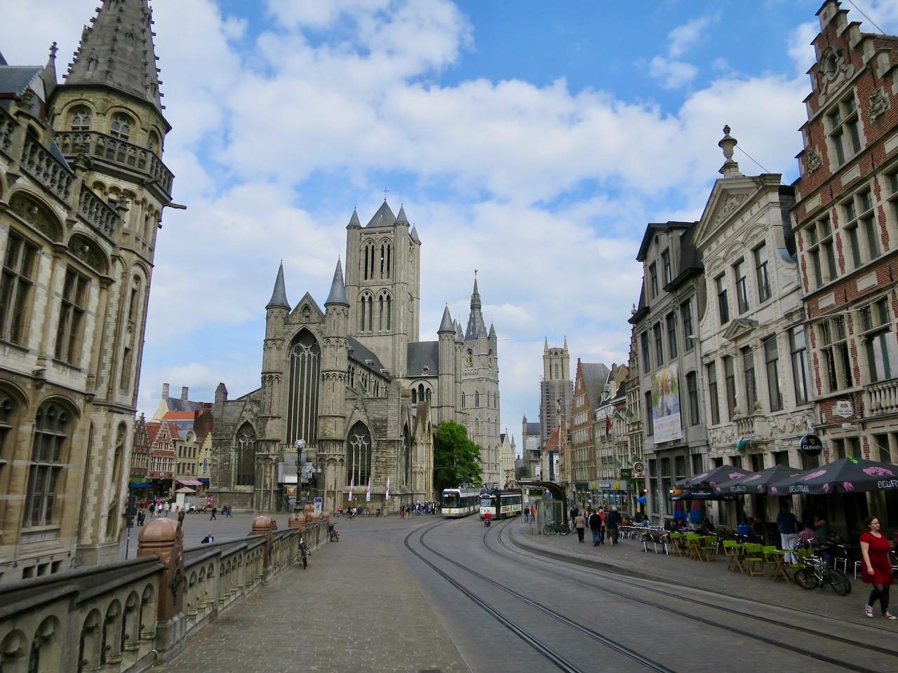 Rua no centro de Gante