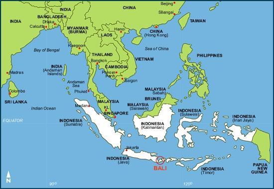 Mapa Bali Indonesia 01