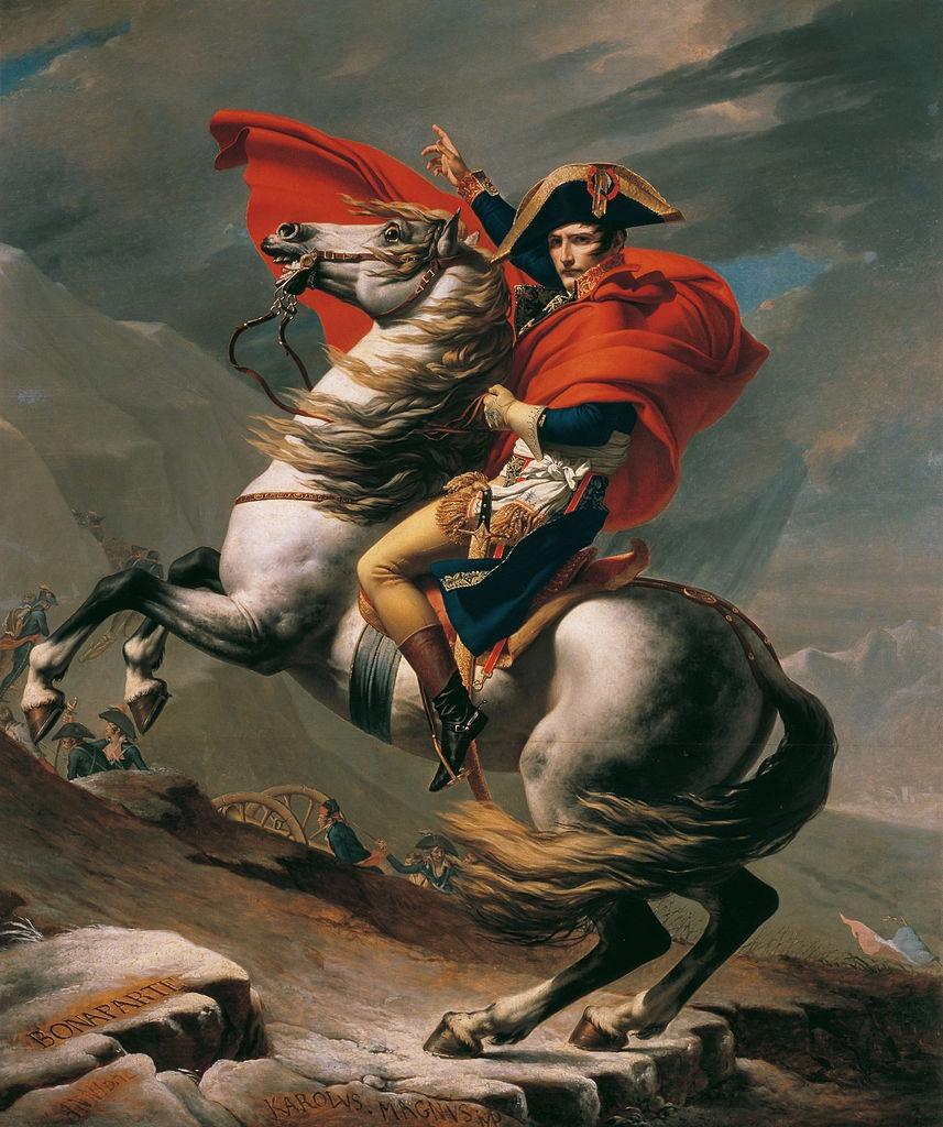 Napoleon at the Great St. Bernard Jacques Louis David Google Cultural Institute