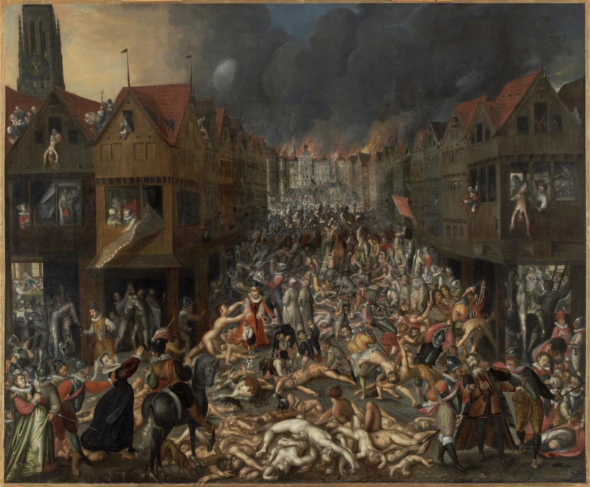 De Spaanse Furie anoniem ca 1585 MAS