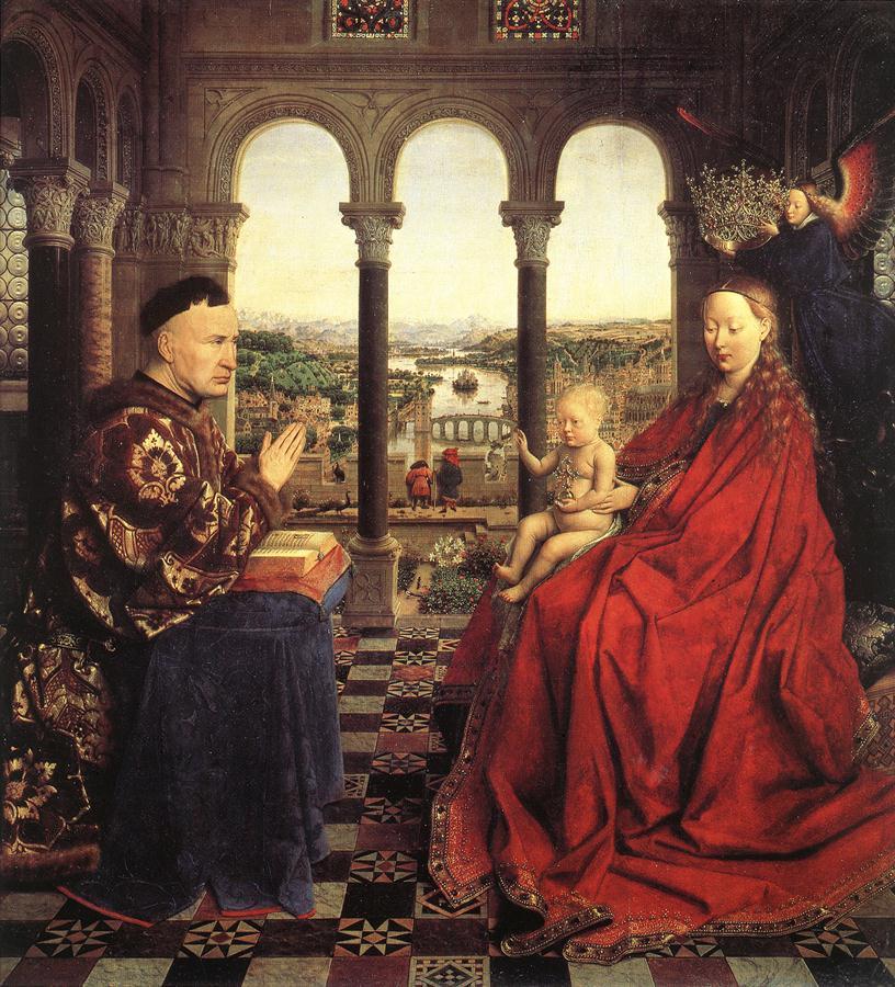 Jan van Eyck The Virgin of Chancellor Rolin